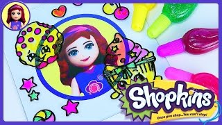 getlinkyoutube.com-Shopkins Gelarti Geleez Window Sticker Gel Coloring Set - Kids Toys