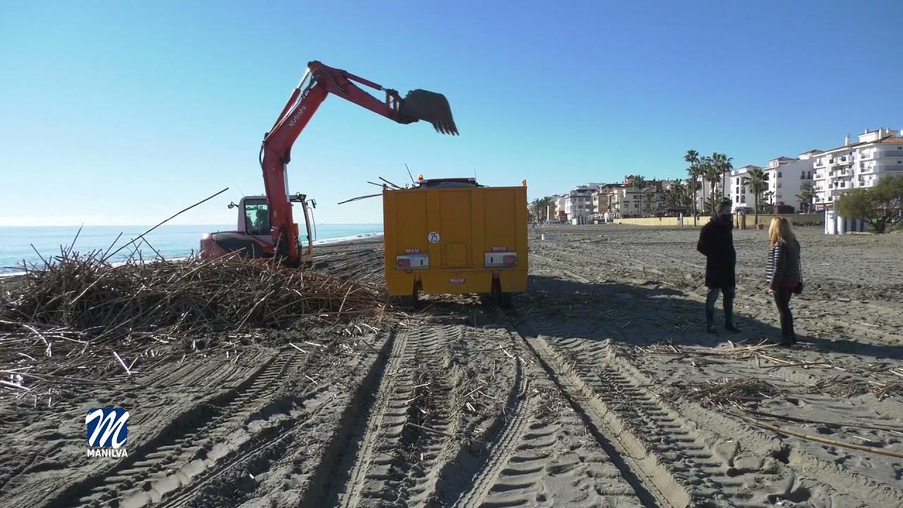 Continúan los trabajos de limpieza en el litoral