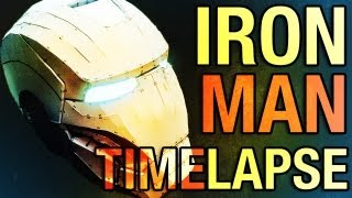 getlinkyoutube.com-Homemade Iron Man Mk7 Helmet - Pepakura - Timelapse of Assembly