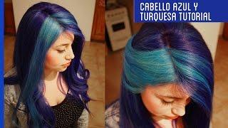 getlinkyoutube.com-Cómo decolorar el cabello teñido y pintarlo de PELO AZUL Y TURQUESA TUTORIAL Otowil