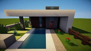Download video minecraft modernes haus wei grau bauen for Minecraft haus bauen modern deutsch