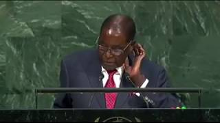 'Giant Gold Goliath Trump' - Mugabe's Speech At The 2017 UN General Assembly