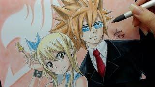 getlinkyoutube.com-Speed Drawing - Lucy and Leo (Fairy Tail)