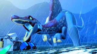 "getlinkyoutube.com-LEGO Jurassic World Defeat The Final Boss, THE END ""Jurassic Park III"""