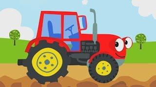 getlinkyoutube.com-Песни для детей - Трактор - Мультик про машинки