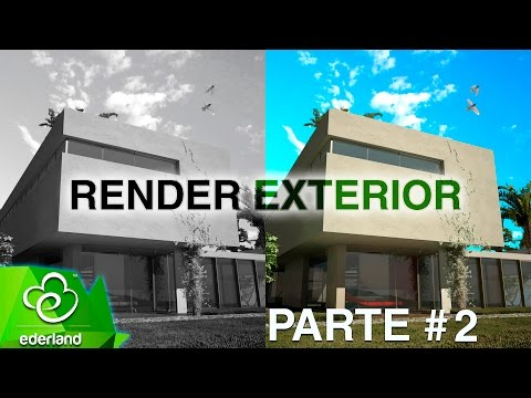 Render Exterior (3ds max con Photoshop) part 2 Tutorial #6