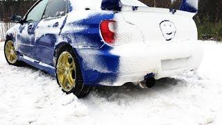 Subaru Impreza WRX vs AUDI QUATTRO Winter Snow-Lake DRIFT