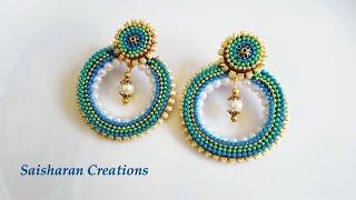 getlinkyoutube.com-Quilling Chandbali style earrings Tutorial