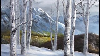 getlinkyoutube.com-Paint with Kevin - Winter Birch Forest