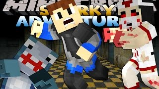 getlinkyoutube.com-Minecraft Adventures - Sharky & Scuba Steve - ZOMBIE HOSPITAL!!