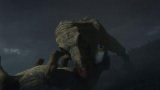getlinkyoutube.com-T-Rex Vs Triceratops and Ankylosaurus (Warning : M
