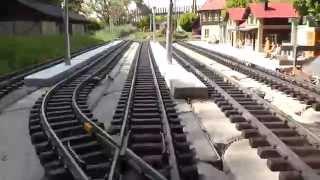 getlinkyoutube.com-LGB Gartenbahn - Mitfahrt auf ca. 200m Schienenlänge