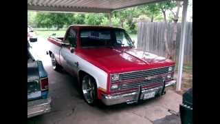 "getlinkyoutube.com-1984 Chevrolet C10 Silverado on 22"" Coys wth 4/6 dropp"