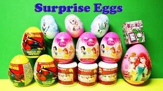 getlinkyoutube.com-Surprise Eggs Hello Kitty Spider Man Disney Princess Hello Kitty Frenzi huevos sorpresa