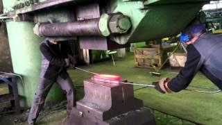 getlinkyoutube.com-3х тонный молот. Изготовление топора. 3 x ton hammer. Making an ax.