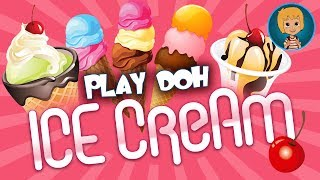 getlinkyoutube.com-PLAY DOH ICE Cream Playset - Disney Frozen Princess Elsa Nails Prom Games For Kids