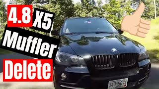 getlinkyoutube.com-BMW X5 4.8I Muffler delete.
