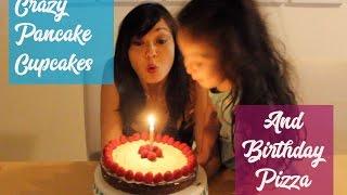 Pregnancy Vlog 25: CRAZY PANCAKE CUPCAKES AND BIRTHDAY PIZZA