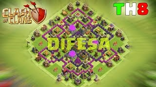 getlinkyoutube.com-CLASH OF CLANS MUNICIPIO LIVELLO 8 - Miglior VILLAGGIO per DIFESA
