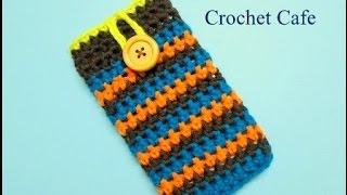 كروشيه جراب للموبايل او.. تابلت او.. لاب توب | Crochet Cafe