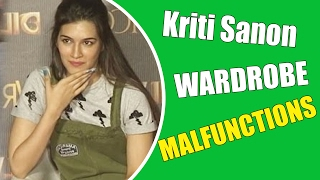 getlinkyoutube.com-Shocking! Kriti Sanon's OOPS MOMENT@ Dilwale Song Launch