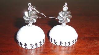 getlinkyoutube.com-56. Tribal Design Jhumka Tutorial - Quilling Dome Earrings