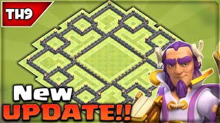 getlinkyoutube.com-Clash of Clans - EPIC TH9 HYBRID BASE! (New Update) BEST Town Hall 9 Farming/Trophy Base 2016