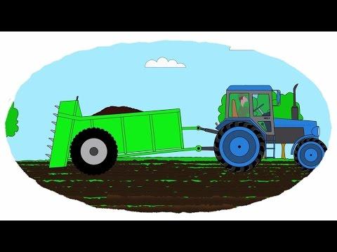 Zeichentrick-Malbuch -  Traktorenanhänger