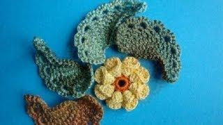 getlinkyoutube.com-Как вязать листик крючком Урок 293 How to crochet leaf