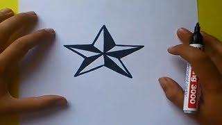 getlinkyoutube.com-Como dibujar una estrella paso a paso | How to draw a star