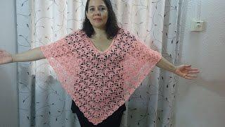 getlinkyoutube.com-poncho hojas de otoño en crochet