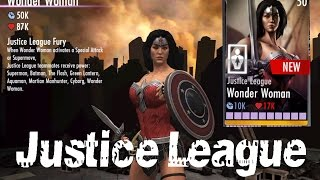 getlinkyoutube.com-Justice League Wonder women Review All special Attacks Injustice Android/IOS