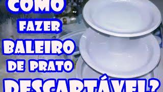 getlinkyoutube.com-D.I.Y: Como fazer baleiro de prato descartável? Imperdível