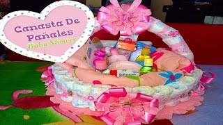 getlinkyoutube.com-Canasta De Pañales Para Baby Shower