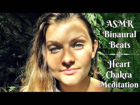 ASMR 💚 Chakra Meditation💚  Binaural Beats, Singing, Soft-spoken