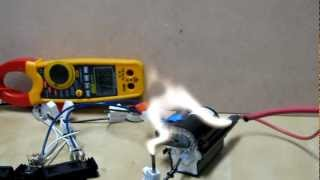 getlinkyoutube.com-Flyback transformer: 36 volts. Arcs & a big bang!