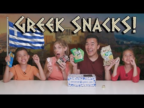 GREEK SNACK TASTE TEST!!! Universal Yums - Greece!