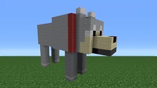 getlinkyoutube.com-Minecraft Tutorial: How To Make A Wolf Statue