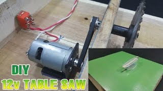 How to make Powerful Table Saw 12volt With 775 Motor