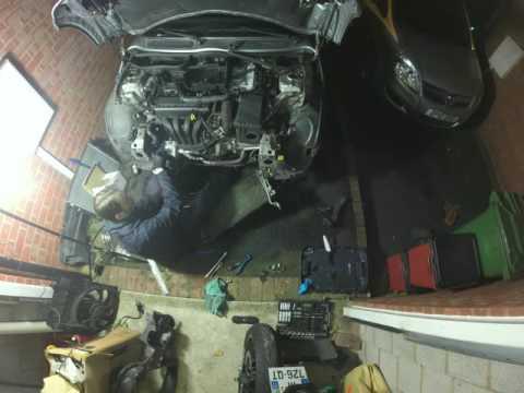 Radiator and water pump change on Mini Cooper R50