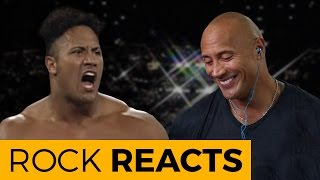 getlinkyoutube.com-The Rock Reacts to His First WWE Match: 20 YEARS OF THE ROCK