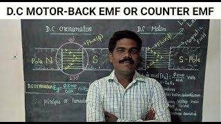 D.C Motor Back EMF in Tamil