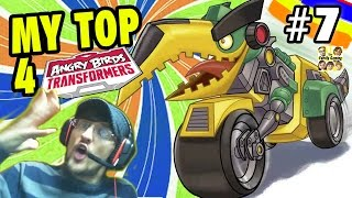 TOP 4 Angry Bird Transformers! + Level 80 Unlocking Grimlock (Lets Play Part 7)