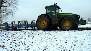 getlinkyoutube.com-Orka w śniegu nowym nabytkiem -John Deere 7920 & Nowy Lemken Europal 8