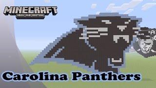 getlinkyoutube.com-Minecraft: Pixel Art Tutorial and Showcase: Carolina Panthers Logo (NFL)