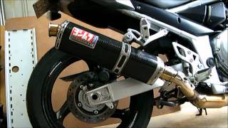 getlinkyoutube.com-How I shortened my Yoshimura TRS on my Bandit 1250