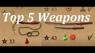 getlinkyoutube.com-Shadow Fight 2 TOP 5 Weapons!