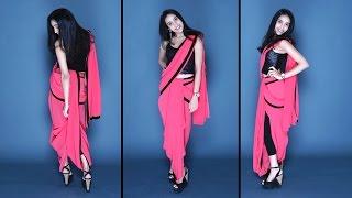 getlinkyoutube.com-How To Wear A Dhoti Saree | Easy Method