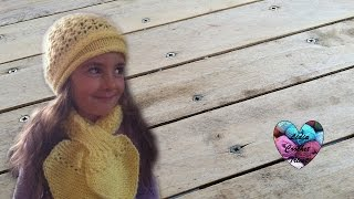 getlinkyoutube.com-Tuto tricot : Bonnet point péruvien / beanies peruvian knitting