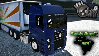 getlinkyoutube.com-Euro Truck Simulator 2 - Mapa RBR - Volkswagen Constellation - Puxando carne! - Com Logitech G27